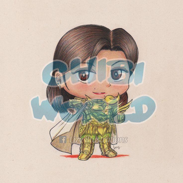 Paty de Aries, un personaje basado en una persona real (portando la cloth de Aries de la serie Saint Seiya TLC)