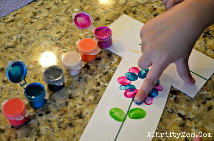 flores pintadas com dedo - Atividades para Educação Infantil