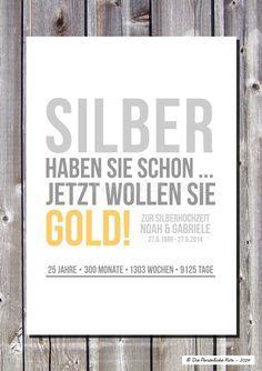 Druck/Wandbild: Geschenkidee Zur Silberhochzeit