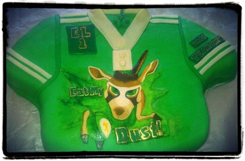 Bokkie cake.  I hand-painted the character with food colouring.