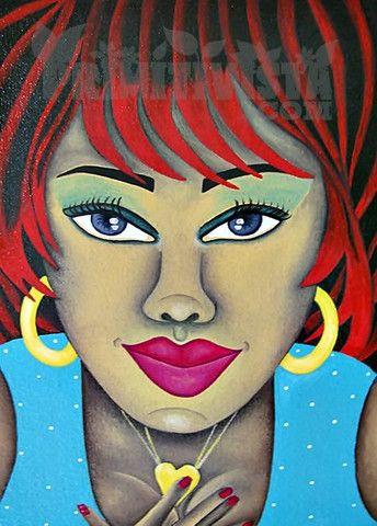 Give you my Heart – Arte Primitivista. Karen Spencer, Caribbean Coast of Nicaragua. www.primitivista.com