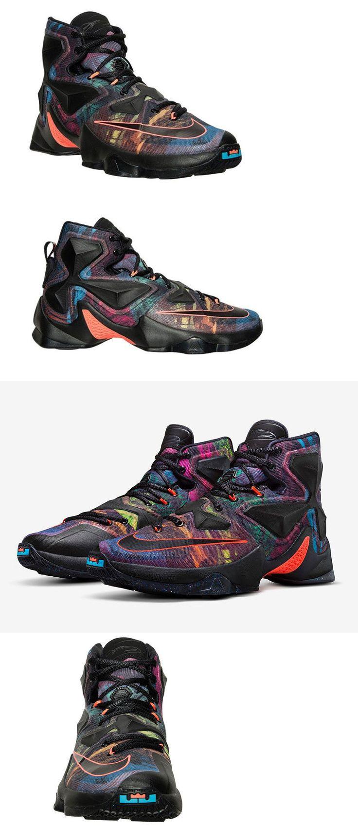 Basketball: Nike Mens Lebron Xiii Basketball Shoes 807219 008 Black/Orange/Blue Size 10.5 -> BUY IT NOW ONLY: $104.95 on eBay!