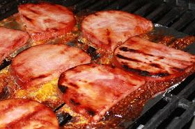 Grilled Ham is one of my favorites, sweet, tender and love that grilled smokey taste!     1/2 cup light brown sugar, packed  1/2 cup hone...