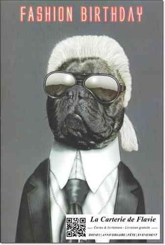 Carte anniversaire Pets Rock Karl Lagerfeld http://lacarteriedeflavie.com/Cartes-Pets-Rock-Anniversaire-fete