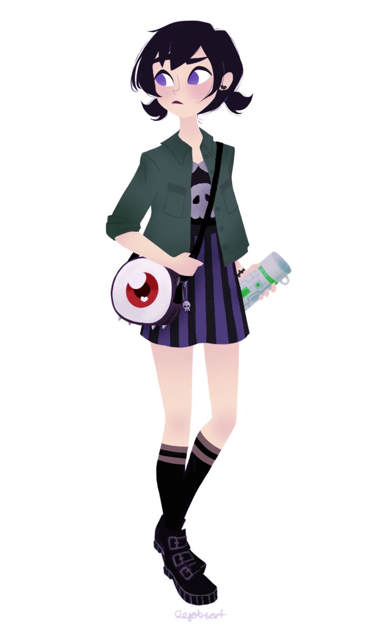 """rejoboart: """"This one has been sitting around for a while. Decided to add her holding a thermos instead of just hiding her arm. And little pigtails because~"""""""