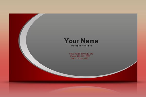 Simple And Clean Red Business Card Template, Available For Free Download As Editable PSD File