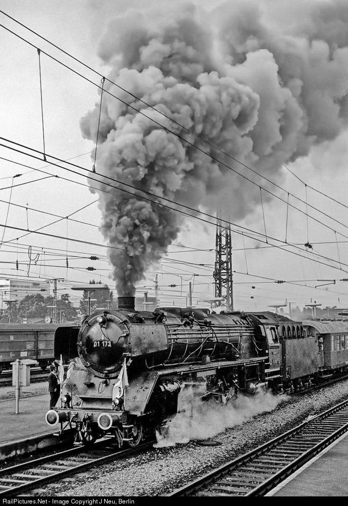 RailPictures.Net Photo: 01 173 Deutsche Bundesbahn Steam 4-6-2 at München, Germany by J Neu, Berlin