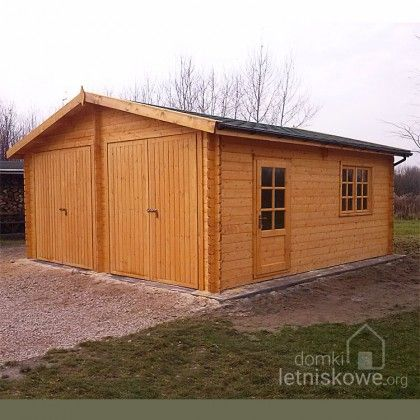 Drewniany garaż dwustanowiskowy (Wooden garage) E 32,6 m2