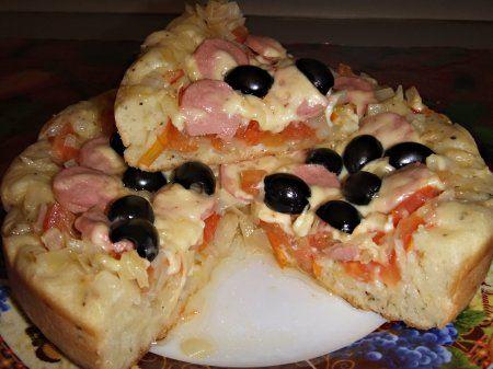 Рецепты для мультиварки: Пирог-пицца с капустой в мультиварке