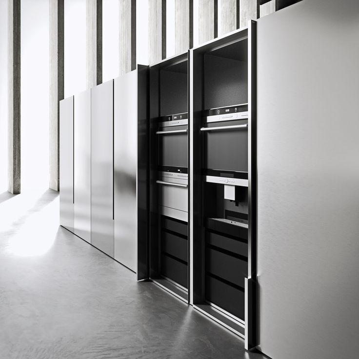 #H.HT kitchen program by Heron Lab #kitchens #modernkitchens #madeinitaly #wood #woodenkitchen #architecture #interiordesign #stainlesssteel