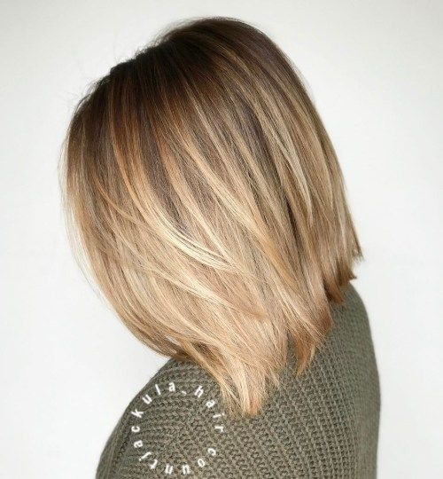 20 Long Choppy Bob Hairstyles For Brunettes And Blondes Balayage
