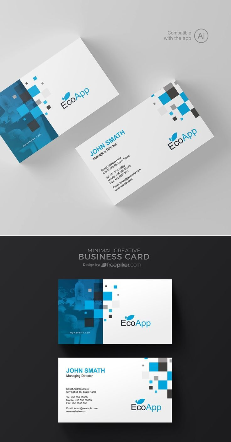 Great Mobileapp Business Card Template Lecker Site Corporate Business Card Design Business Cards Creative Business Card Design Creative