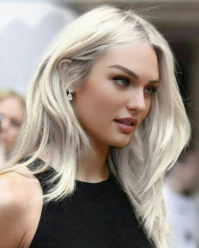 Question Candice swanepoel platinum blonde hair has