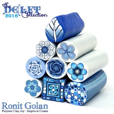 Delft Canes by Ronit Golan | 9-polymer-clay-canes-the-delft