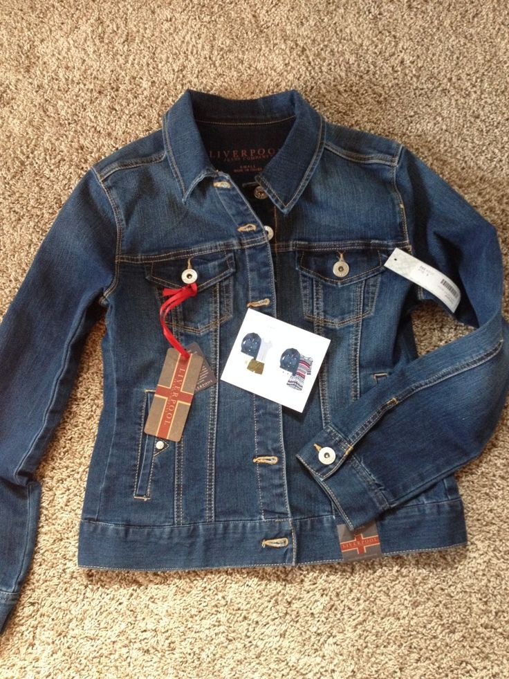 https://www.stitchfix.com/referral/4371189 {I need to update my denim jacket with a great one like this. Fitted and a darker wash.} Stitch Fix Liverpool Jalie Denim Jacket