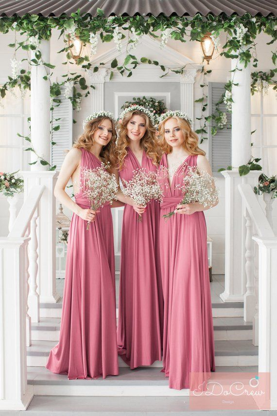 eebd4ee9fde Rosewood Bridesmaid Dress Infinity Dress Floor Length Maxi Wrap Convertible  Dusty Rose Dress Wedding Dress Multiway Dress