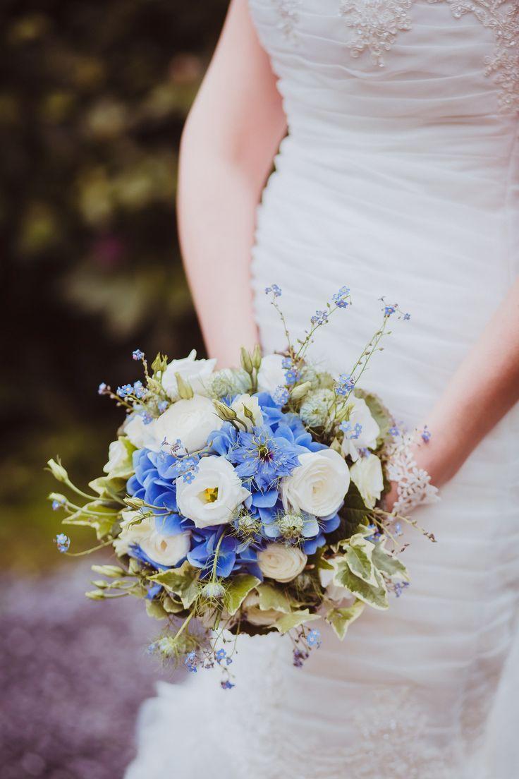 Brautstrauß, Waldblumen, Hortensien