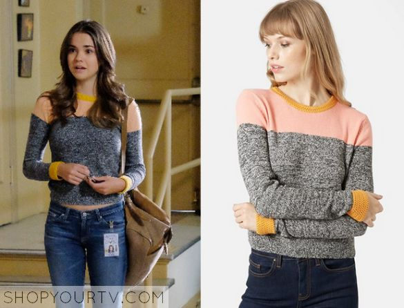 The Fosters: Season 3 Episode 1 Callie's Colorblock marl sweater