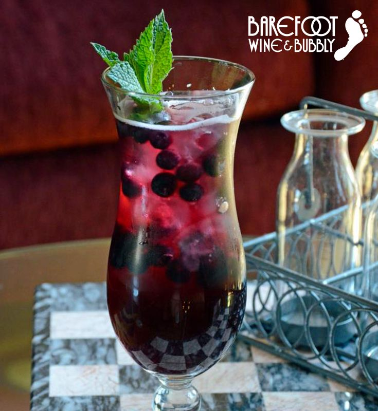 Sangria Sunday never tasted so good. Try this Blueberry Pomegranate Sangria recipe with Barefoot Red Moscato this weekend.