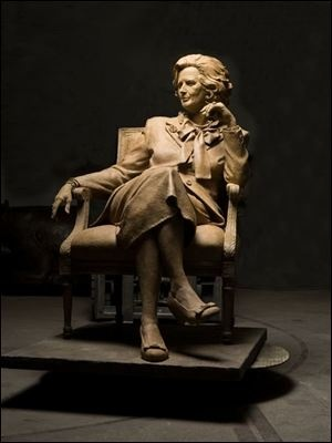 Hillsdale College honors Margaret Thatcher with bronze statue.