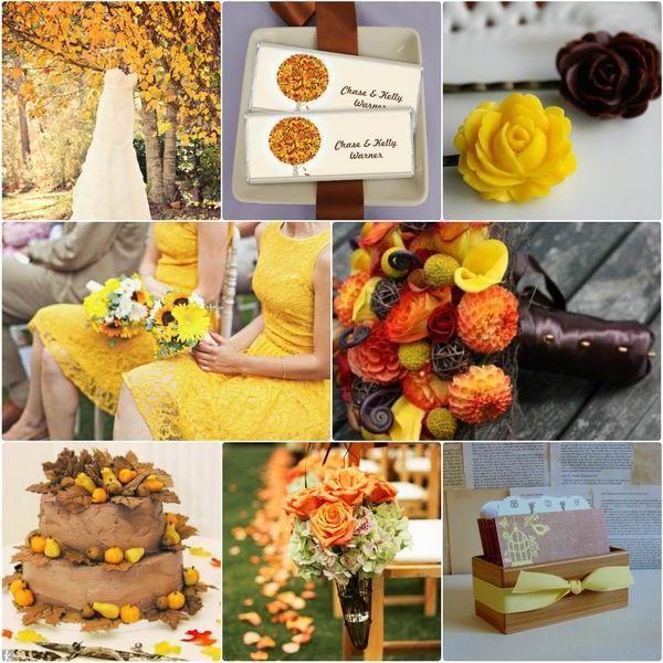 Pinterest Wedding Ideas 2014: 2014 Yellow And Chocolate Fall