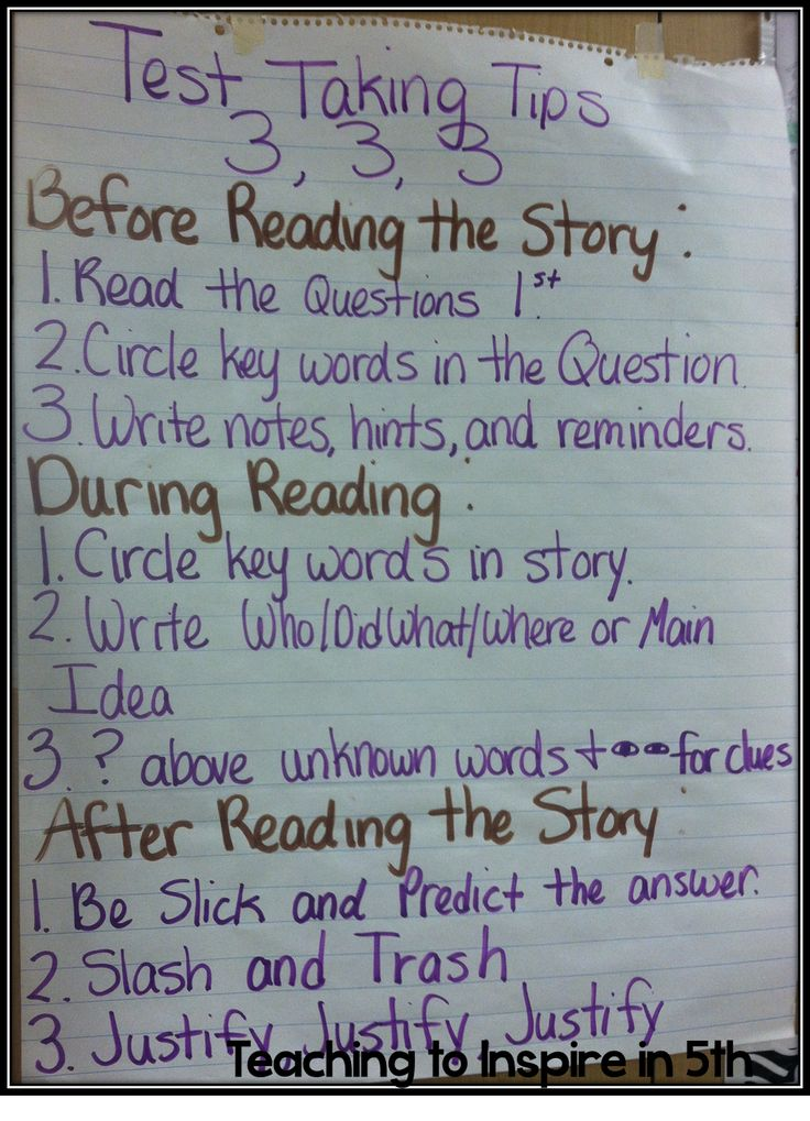 Teaching To Inspire In 5th: 3, 3, 3 Test Taking Tips!