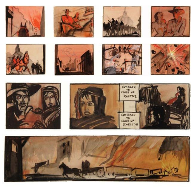 Gone With The Wind - storyboard - by William Cameron Menzies