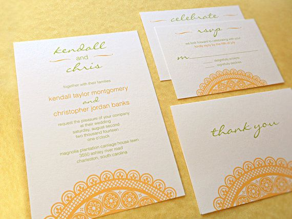 Customizable Wedding Invitations Lace   Deposit by faystreetstudio, $50.00