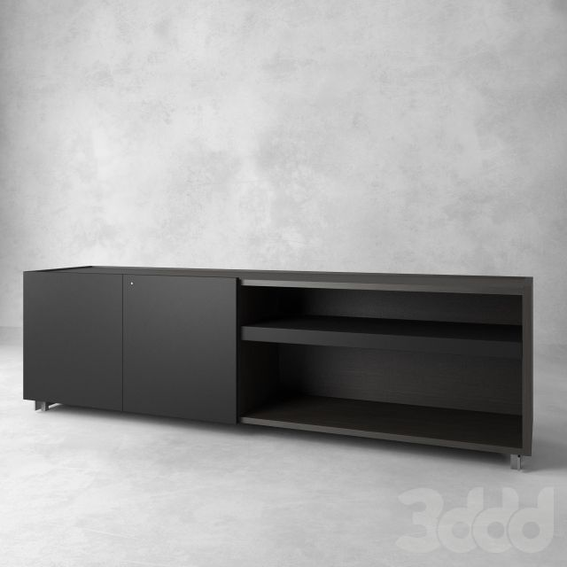 3d модели: Тумбы, комоды - Poltrona Frau Low Cabinet compartment door 230