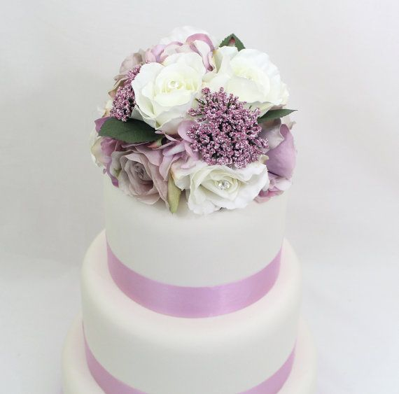 16 best silk flower cake topper ideas images on pinterest wedding purple winter weddings cake layers fall cakes purple cakes floral wedding cakes wedding cake toppers party cakes beautiful cakes silk flowers junglespirit