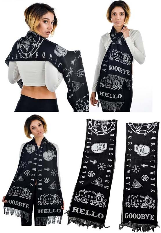 Ouija Scarf by Too Fast Clothing