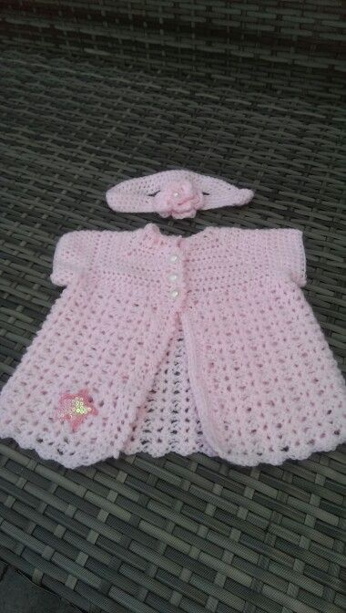 Baby vestje en haarband