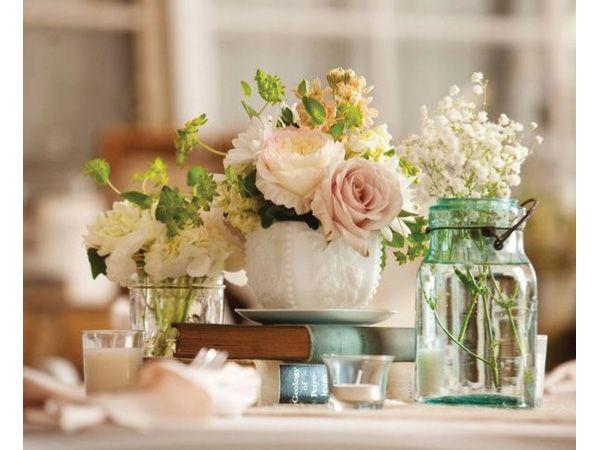 Centros mesa con libros para boda hipster centros de - Centro de mesas para bodas ...
