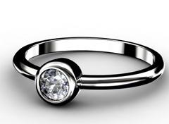 Diamant Verlobungsring Gefühle, 750er Weißgold 18 Karat