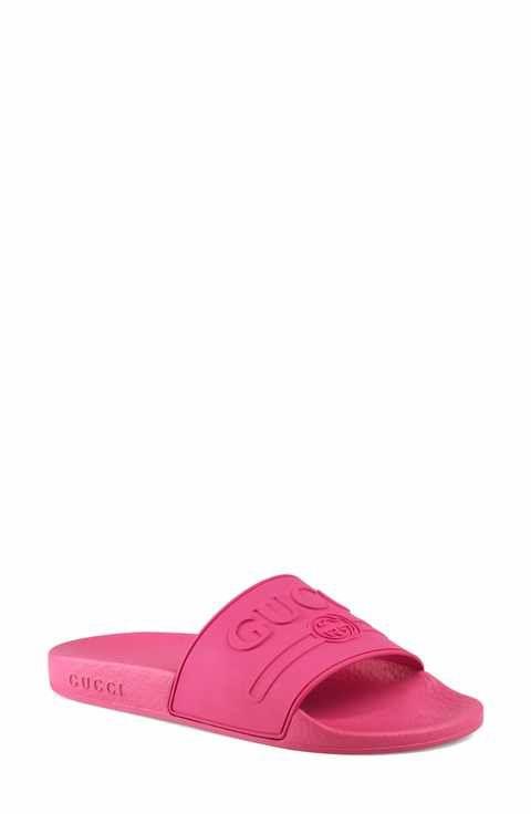 35c8e8553d64 Gucci Pursuit Logo Slide Sandal (Women)