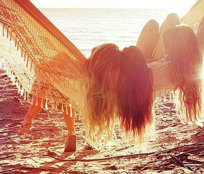 : At The Beaches, Beaches Hair, Summer Day, Life, Best Friends, Bestfriends, Long Hair, Hammocks, Summertime