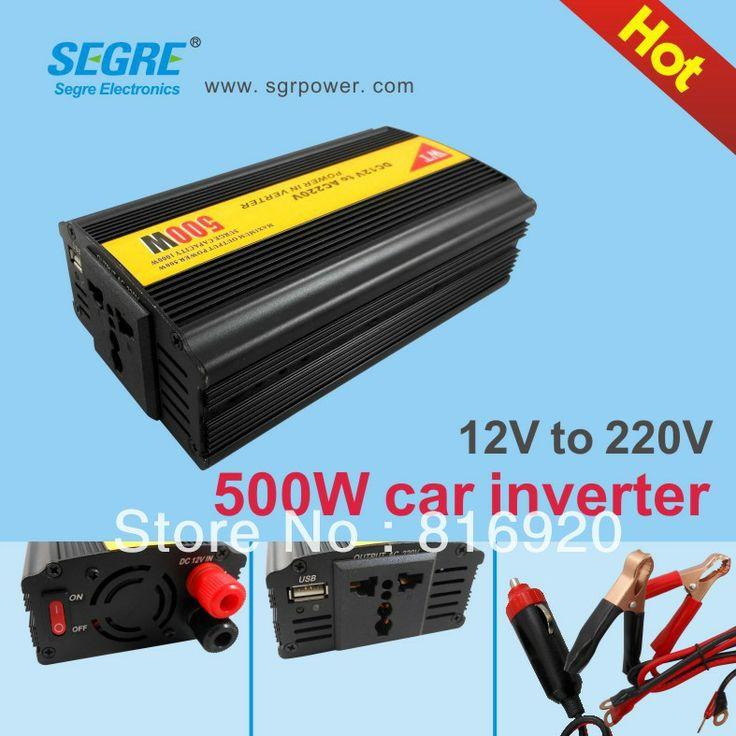 New 1pcs/lot 500W car inverter 12V TO 220V car power inverter Free shipping. $37.80
