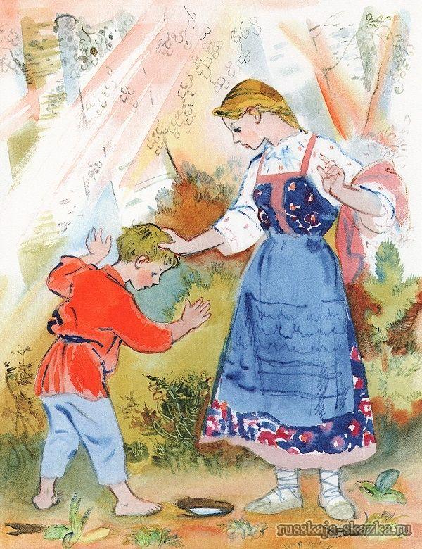 выполняется иллюстрации к сказкам сестрица аленушка тич-ри