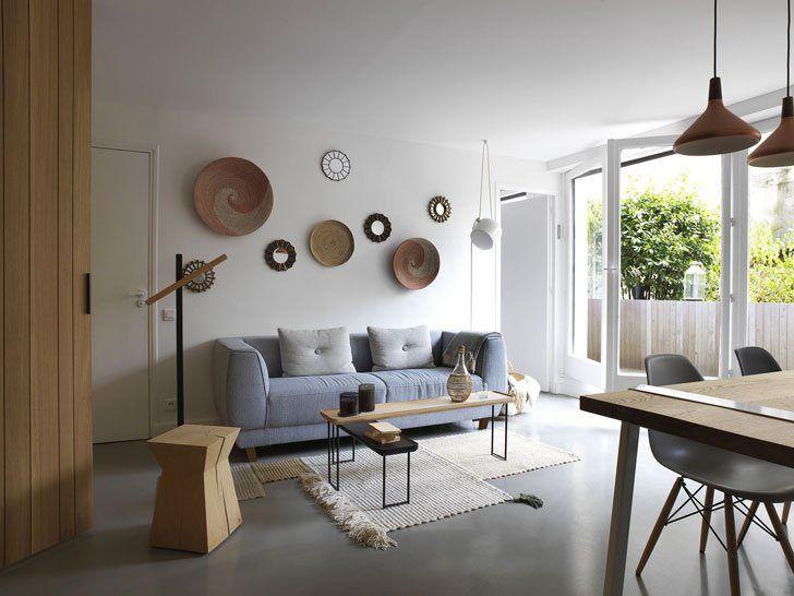 Природные материалы в интерьере квартиры в Париже   Пуфик - блог о дизайне интерьера