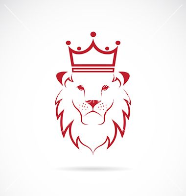 Image of an lion crowned. Logo crest vector by yod67 on VectorStock®