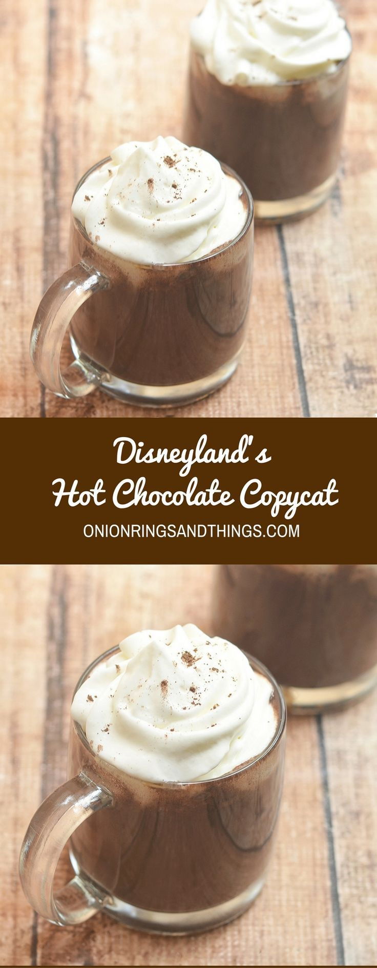 Disneyland's hot chocolate copycat is creamy and chocolatey at every sip! Rich and indulgent, it's the perfect treat for cold winter days!