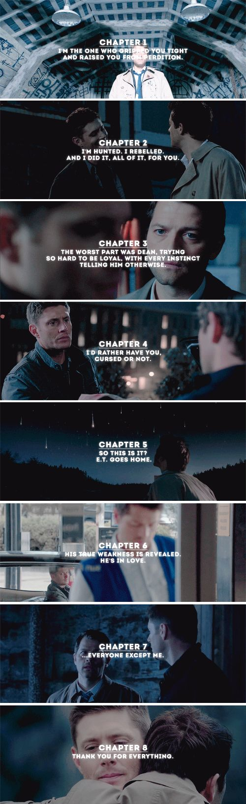 September 18th 2008 - September 18th 2016  Happy anniversary, Dean and Castiel! #spn #destiel