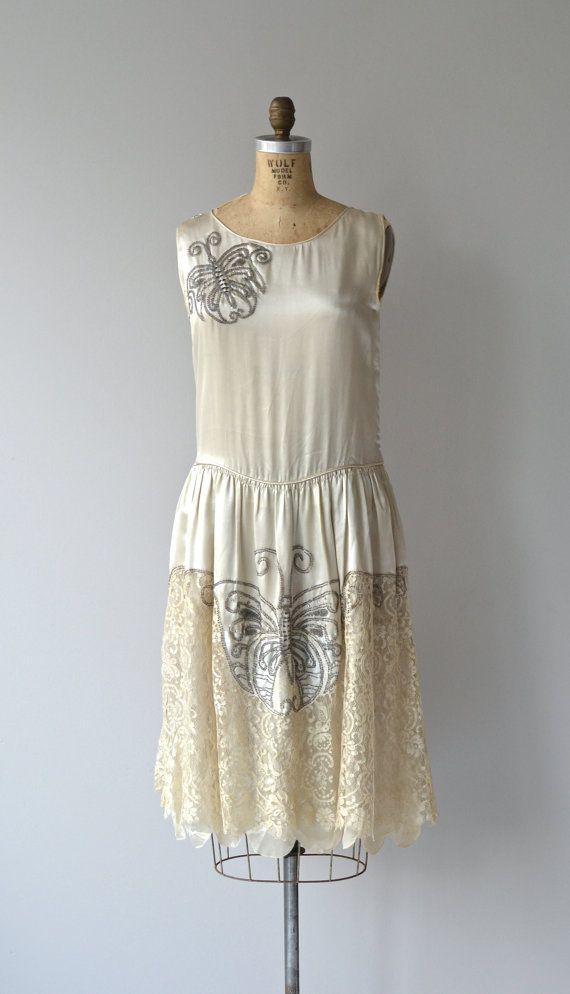 Bombyx Mori  dress 1920 - vestito vintage anni 20 di DearGolden