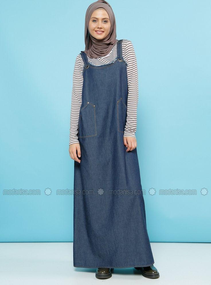 فستان جيليت جينز من Benin - كحلي