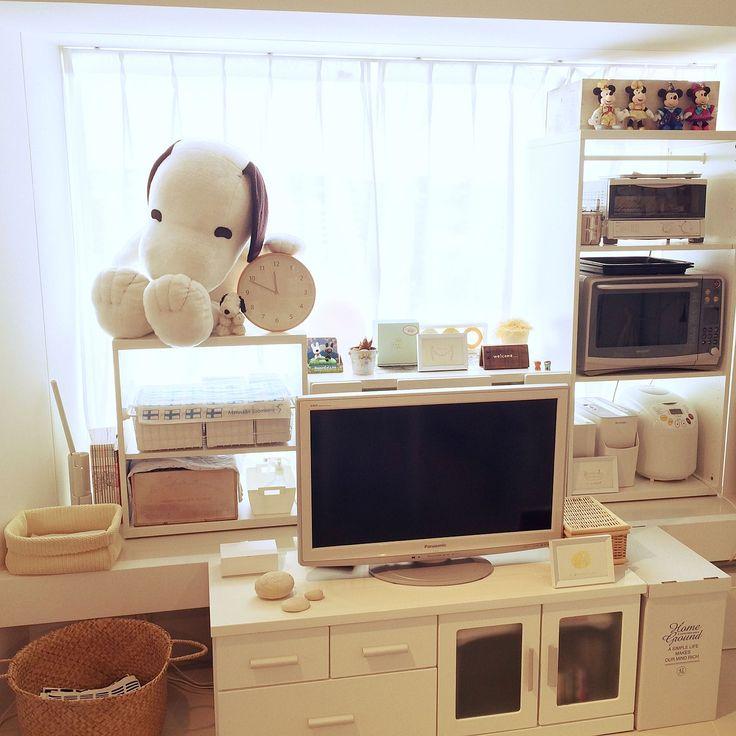 賃貸/1R/テレビ台/IKEA/ニトリ/Lounge…などのインテリア実例 - 2015-02-18 14:59:52   RoomClip(ルームクリップ)