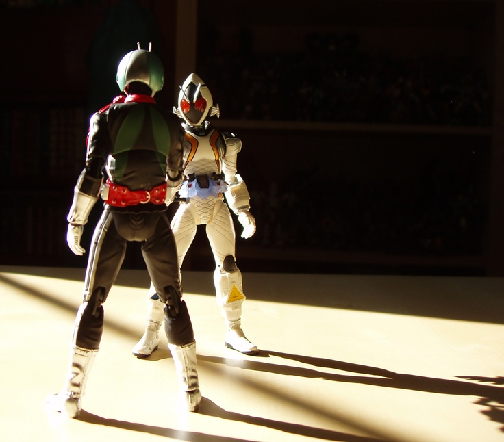 Masked Rider #1 1号 and Masked Rider Fourze フォーゼ