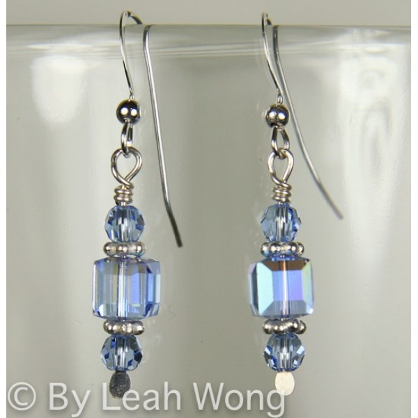 It's hip to be square with this fun design. These handmade earrings are made with Austrian Swarovski crystal and sterling silver. Be sure to also check out the other beaded necklaces and beaded bracelets that are also available. $19.50