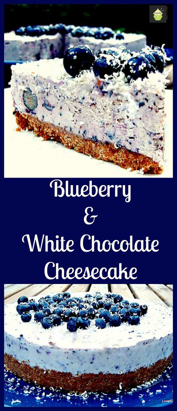 Blaubeer- und weiße Schokoladenkuchen