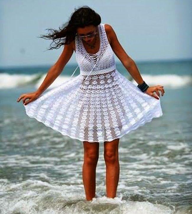 MENTŐÖTLET - kreáció, újrahasznosítás: Horgolt nyári ruhák