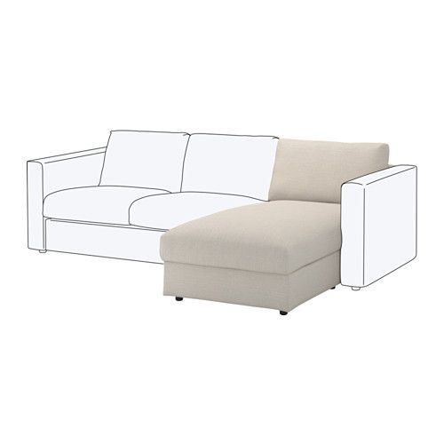 Chaiselongue ikea  VIMLE Chaise longue element, Gunnared beige | Powder room and Room